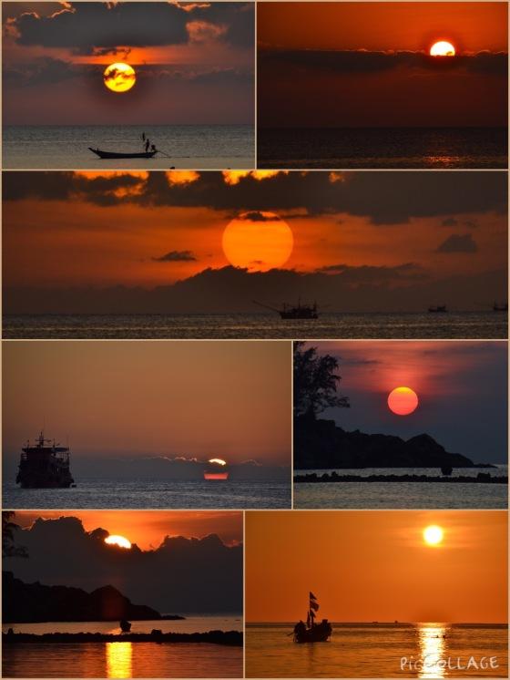 Atardeceres en el Golfo de Tailandia