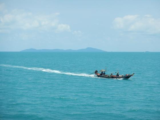 Pescadores en el Golfo de Tailandia