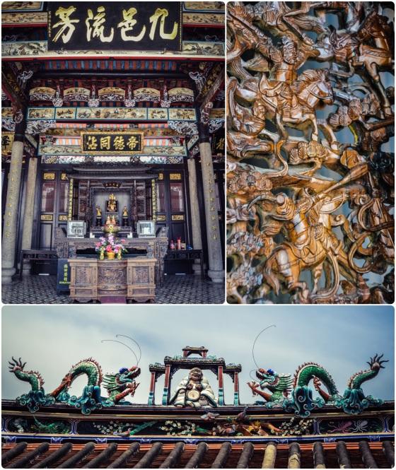 Detalles del templo Teo Chew